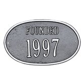 "Date ""Founded"" Wall Plaque"