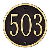 "6"" Round Wall Address Plaque"