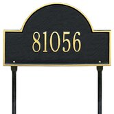 1Arch Marker Standard Lawn Address Plaque