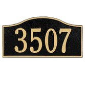 Rolling Hills Standard Wall Address Plaque