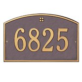 Cape Charles Standard Wall Address Plaque
