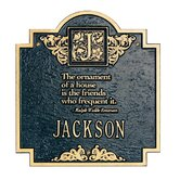 Emerson Monogram Standard Wall Address Plaque
