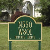 Wisconsin Special Standard Address Sign