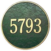 "15"" Round Wall Address Plaque"