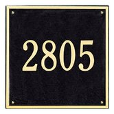 Square Estate Wall Address Plaque
