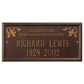 "Wilmington ""Living Eternally"" Standard Wall Plaque"