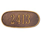 Oval Standard Wall Address Plaque