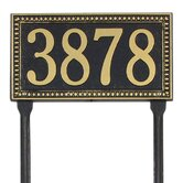 Egg and Dart Standard Lawn Address Plaque