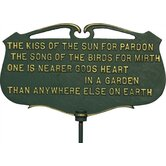 Flora and Fauna Kiss of the Sun Poem Plaque