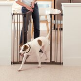 Extra Tall Deluxe Easy Close Metal Gate with 2 Extensions