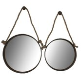 Round Mirror with Rope Handle (Set of 2)