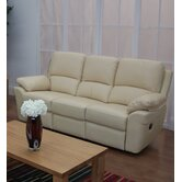 Monzano Three Fixed Seat Sofa in Ivory