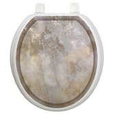 Classic Toilet Seat Applique with Silver Stone Design