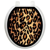 Classic Toilet Seat Applique with Leopard Design