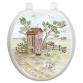 Themes Toilet Seat Applique with Lori's Outhouse Design