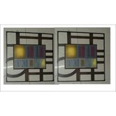 Metal Frame Wall Art (Set of 2)