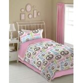 Peace and Love Sheet Set in Pink