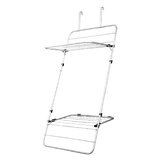 Door or Wall Mounted Indoor Drying Rack in Silver