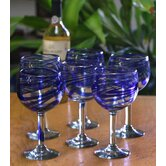 Blue Ribbon Wine Glasses (Set of 6)