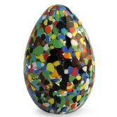 'Confetti Egg' Murano Hand Blown Paperweight