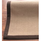 Natural Jute Cotton Brown Border Rug