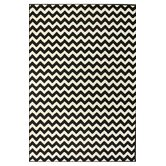 Kinder Chevron Ivory/Black Rug