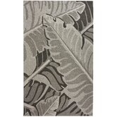 Pop Bold Leaves Grey Rug
