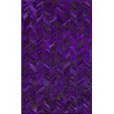 Hudson Chevron Grape Rug