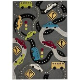 KinderLOOM Roads Grey Kids Rug