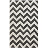 Marrakesh Meridian Chevron Black Rug