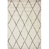 Marbella Moroccan Shag Ivory Kilim Rug