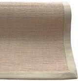 Natural Jute Cotton Sand Border Rug