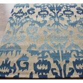 Pop Blue Ikat Rug