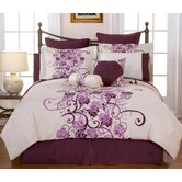 Grapevine Printed 3-Piece Duvet Set