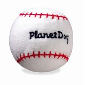 Squeaky Plush Baseball Dog Toy