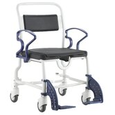 Denver Shower Commode Chair in Grey / Blue