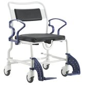 Atlanta Shower Commode Chair in Grey / Blue