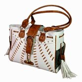 Faux Leather Handbag Pet Carrier in White