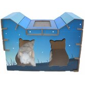 Double Door House Style Cat Scratcher Board