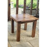 Brooklyn Square Solid Oak Dining Table in Rich Patina - 80cm