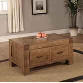 Santana Two Drawer Coffee Table in Rich Patina