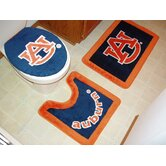 Auburn Tigers 3 Piece Bath Rugs