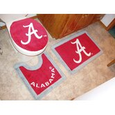Alabama Crimson Tide 3 Piece Bath Rugs