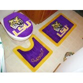 LSU Tigers 3 Piece Bath Rugs