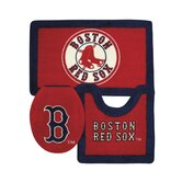 Boston Red Sox 3 Piece Bath Rugs