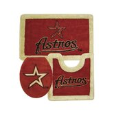 Houston Astros 3 Piece Bath Rugs