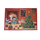 Seasonal Santa Claus Design  Area Rug