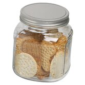 32 oz. Cracker Jar with Brushed Aluminum Lid