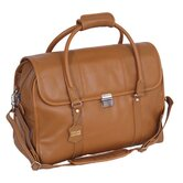 Sondrio Leather Travel Satchel in Brown