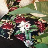 Orchids Black Tailored Sham
